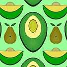 avocado and pear pattern by kanvisstyle