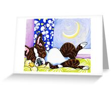 Moon Over Boston Greeting Card