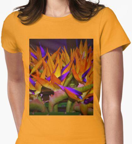 Bird flock Womens Fitted T-Shirt
