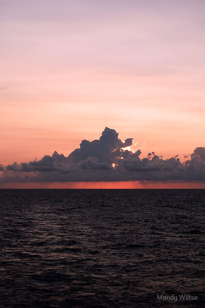 Sunset At Sea by Mandy Wiltse