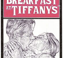 BREAKFAST AT TIFFANYS hand drawn movie poster in pencil by theexiledelite