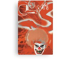 Clowns Red Canvas Print