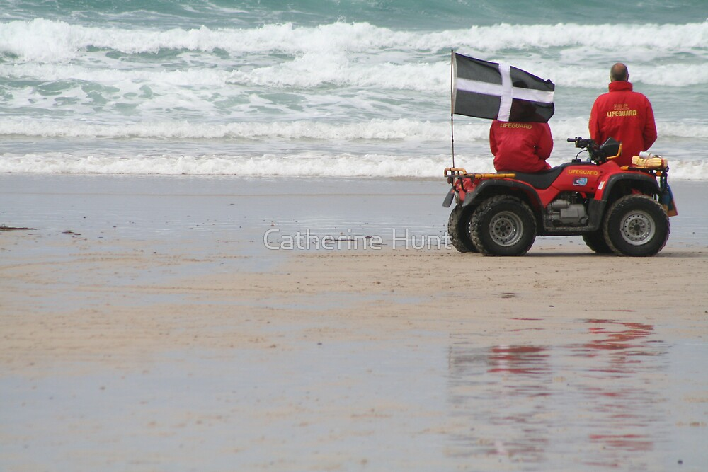 Cornish Lifeguards by Catherine Hunt