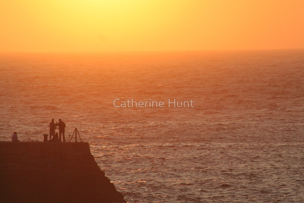 Sunset at Sennen by Catherine Hunt