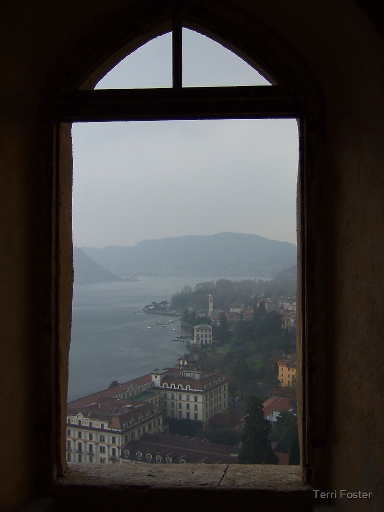 Through the Castle Window - Lake Como, Italy by Terri Foster