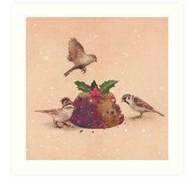 Christmas Pudding Raid  Art Print