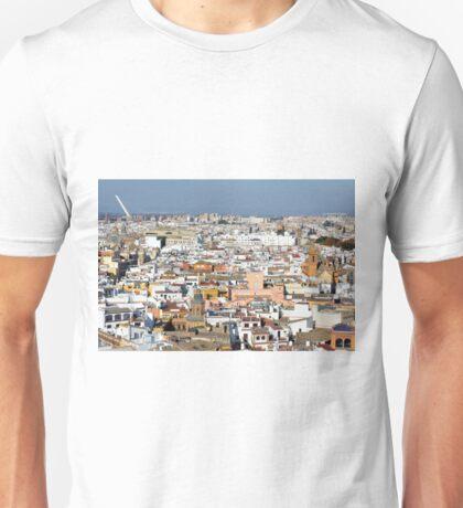 Panoramic view of Sevilla, Spain Unisex T-Shirt