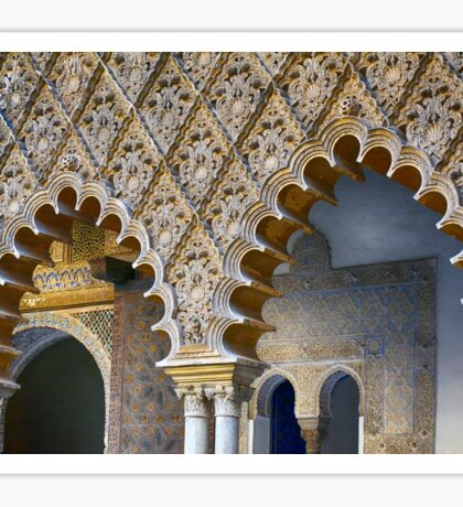 Arched portico in Sevilla, Spain with decorative elements Sticker