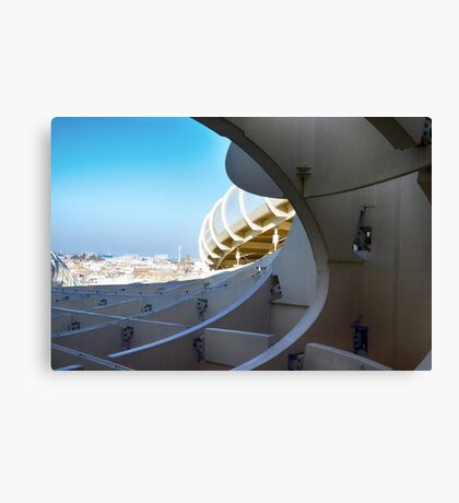 View from Metropol Parasol (Setas de Sevilla) of the city of Seville, Spain. Canvas Print