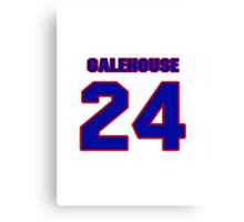 National baseball player Denny Galehouse jersey 24 Canvas Print
