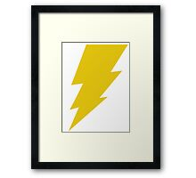 Lightning Bolt Shirt Framed Print