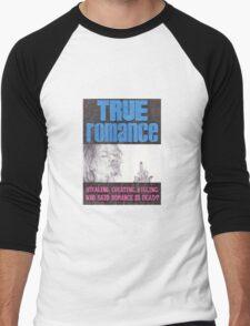TRUE ROMANCE hand drawn movie poster in pencil Men's Baseball ¾ T-Shirt