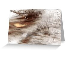 Can you feel the waves of the interior ocean? Greeting Card