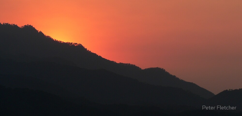 Sunset at Valle de Bravo by Peter Fletcher