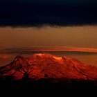 Iztacihuatl - a volcano in Mexico City by Peter Fletcher