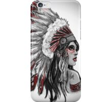 Red Indian - Color  iPhone Case/Skin