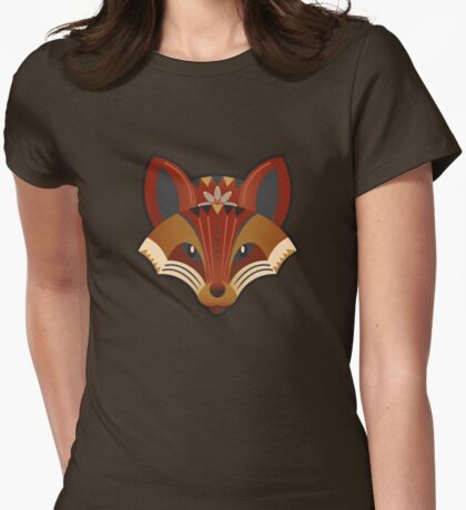 Foxy Geometry Womens Fitted T-Shirt
