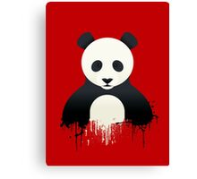 Panda Graffiti red Canvas Print