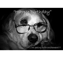 happy birthday....excitement Photographic Print