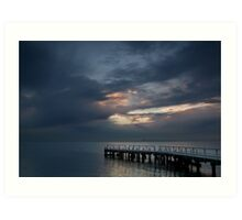 Light on Corio Bay,Portarlington Art Print