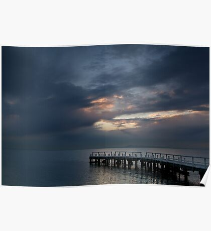 Light on Corio Bay,Portarlington Poster