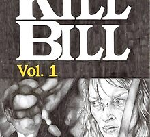 KILL BILL hand drawn movie poster in pencil by theexiledelite