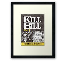 KILL BILL hand drawn movie poster in pencil Framed Print