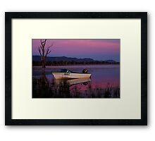 Mauve Tones, Lake Fyans Framed Print