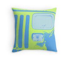 Yellow Jeep Throw Pillow