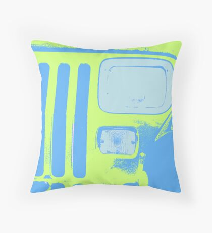 Yellow Jeep Throw Pillow
