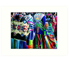 Women Shawl Dancers Art Print