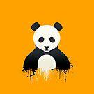 Panda Graffiti yellow by Mark Walker
