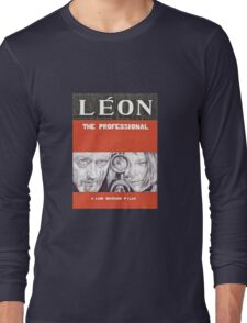 LEON hand drawn movie poster in pencil Long Sleeve T-Shirt
