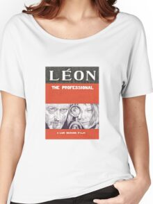 LEON hand drawn movie poster in pencil Women's Relaxed Fit T-Shirt