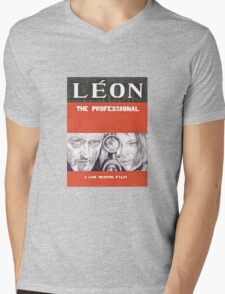 LEON hand drawn movie poster in pencil Mens V-Neck T-Shirt