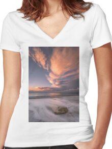 Little Rock Sunset #2 Women's Fitted V-Neck T-Shirt
