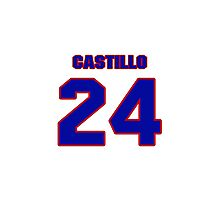 National baseball player Alberto Castillo jersey 24 Photographic Print