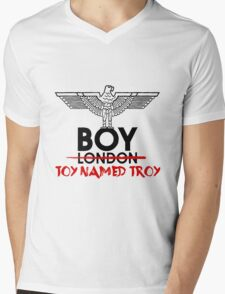 BOY TOY NAMED TROY Mens V-Neck T-Shirt