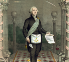 George Washington as a Freemason Sticker