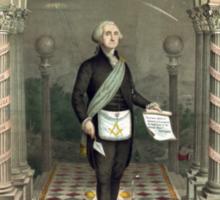 George Washington as a Freemason Sticker