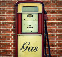 Retro Vintage Gasoline Pump by mrdoomits