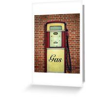 Retro Vintage Gasoline Pump Greeting Card
