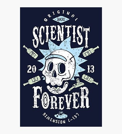 Scientist Forever Photographic Print