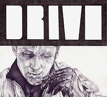 DRIVE hand drawn movie poster in pencil by theexiledelite