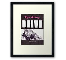DRIVE hand drawn movie poster in pencil Framed Print