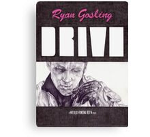DRIVE hand drawn movie poster in pencil Canvas Print
