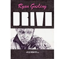 DRIVE hand drawn movie poster in pencil Photographic Print
