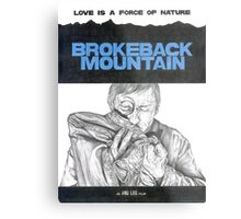 BROKEBACK MOUNTAIN hand drawn movie poster in pencil Metal Print