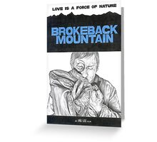 BROKEBACK MOUNTAIN hand drawn movie poster in pencil Greeting Card