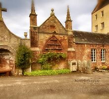 Delgatie Castle - Rear View  (near Turriff, in Aberdeenshire, Scotland) by Yannik Hay